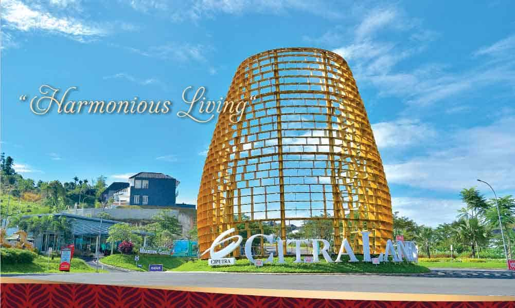 gerbang utama ikonik citraland bandar lampung